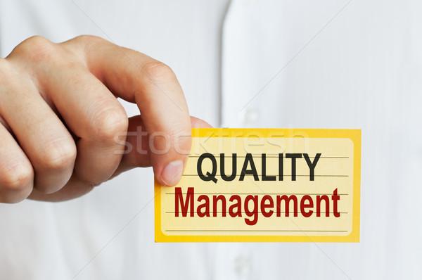 Quality Management card Stock photo © burtsevserge