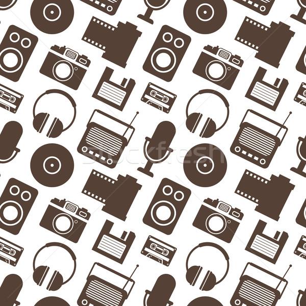Retro mídia tecnologia tv Foto stock © burtsevserge