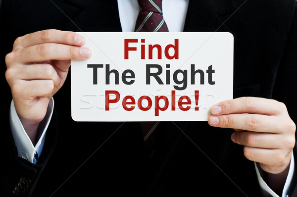Find The Right People Stock photo © burtsevserge