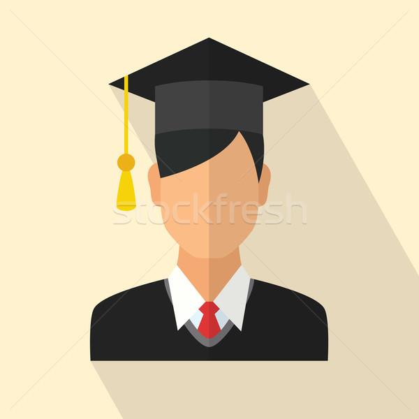 Graduados estudante jovem graduação boné Foto stock © burtsevserge