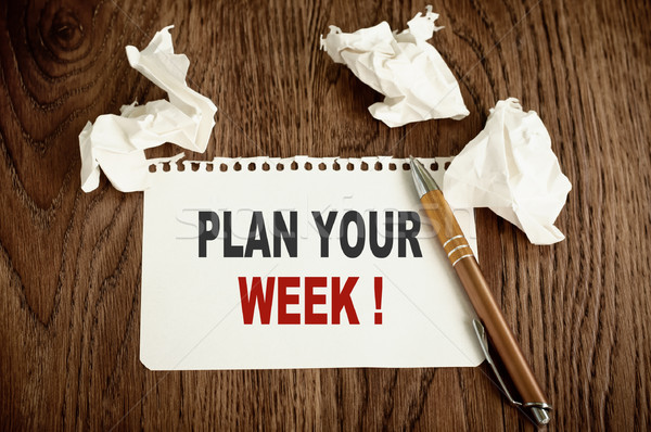 Plan Your Week Stock photo © burtsevserge