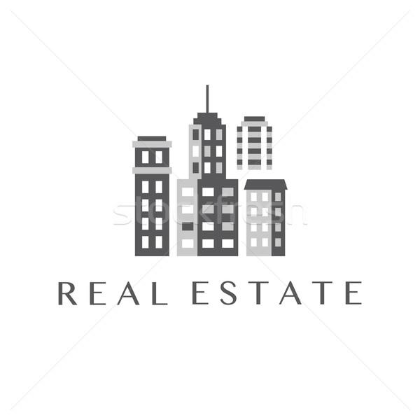 Imóveis design de logotipo comercial propriedade modelo Foto stock © burtsevserge