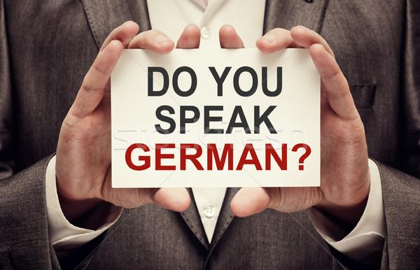Stock photo: Do You Speak German