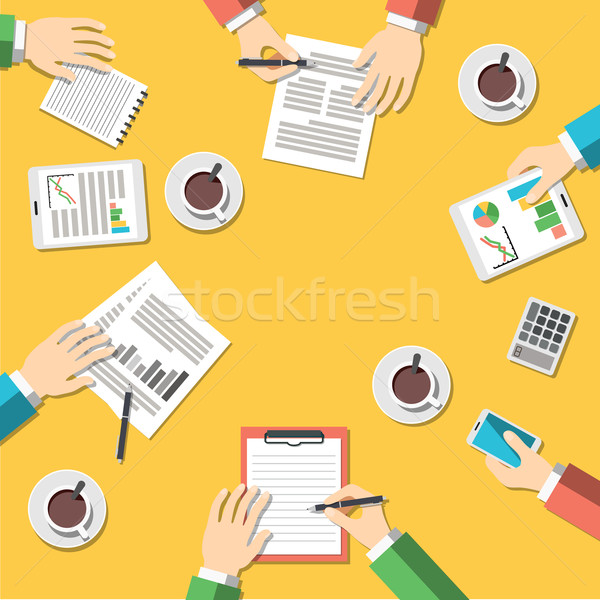 Teamwork, business meeting concept Stock photo © burtsevserge