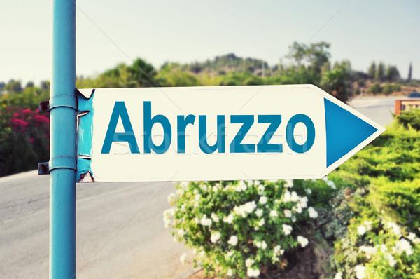 Abruzzo Road Sign Stock photo © burtsevserge