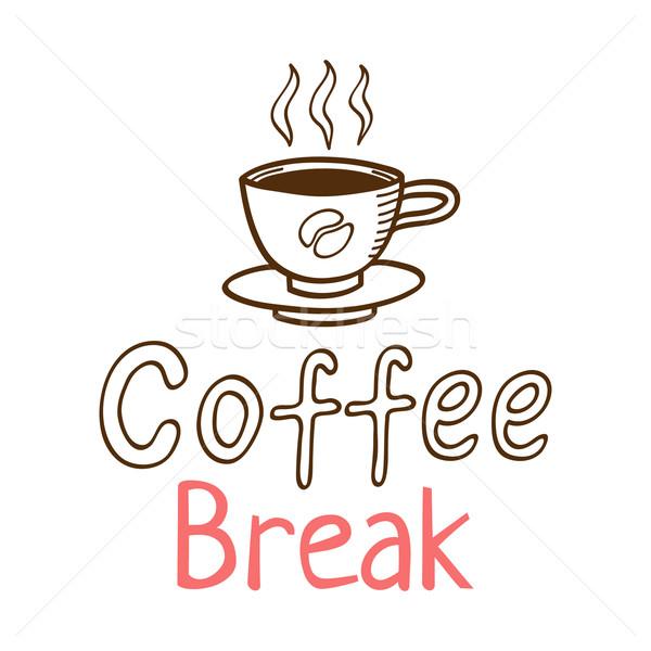 Stock photo: Coffee Break Vintage Logo