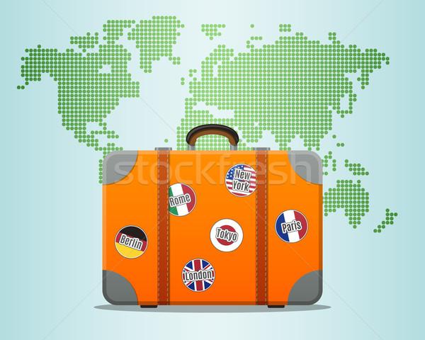 Travel Suitcase Stock photo © burtsevserge