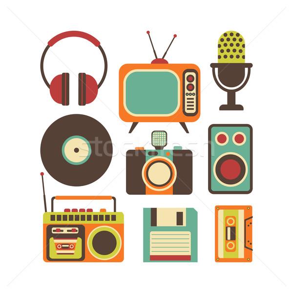 Retro Media technology Stock photo © burtsevserge