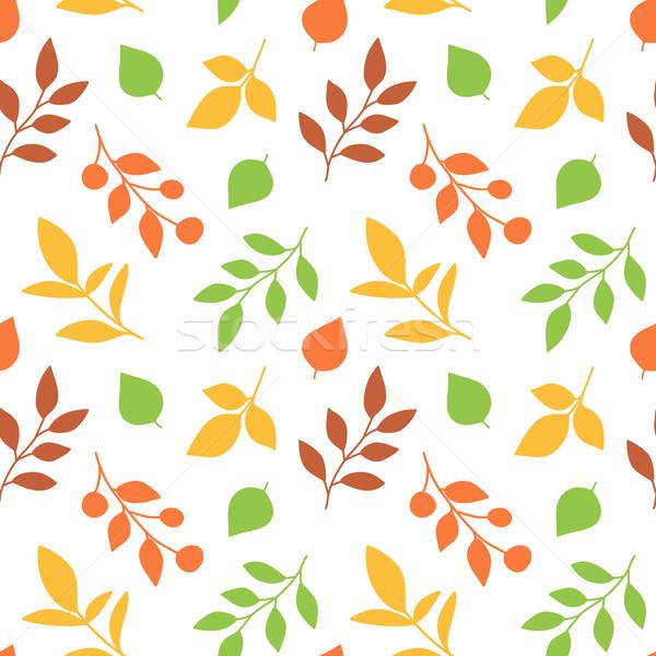 Autumn Leaves Seamless Pattern Stock photo © burtsevserge