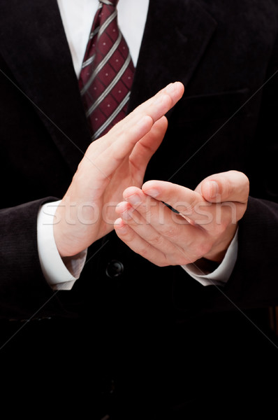 Male Hands Clapping Stock photo © burtsevserge