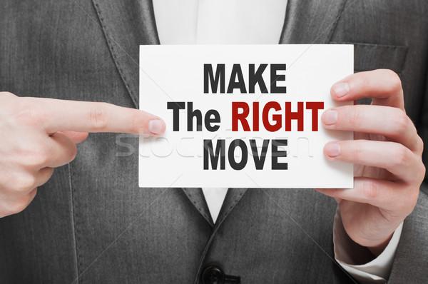 Make the Right Move Stock photo © burtsevserge