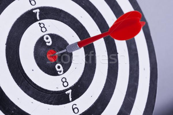 Dardo centro alvo isolado sucesso jogo Foto stock © burtsevserge