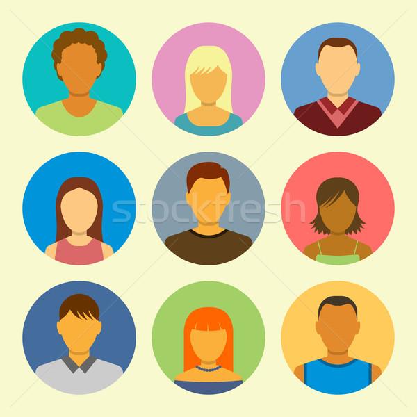 Stock photo: Set Of People Icons