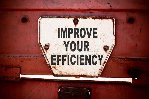 Efficacité un message texte écrit fer Photo stock © burtsevserge