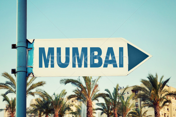 Mumbai Road Sign Stock photo © burtsevserge