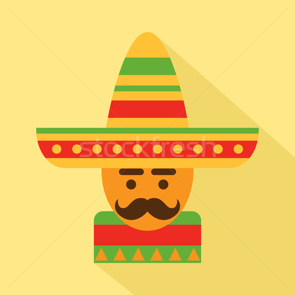 Meksika adam geniş kenarlı şapka vektör arka plan Stok fotoğraf © burtsevserge