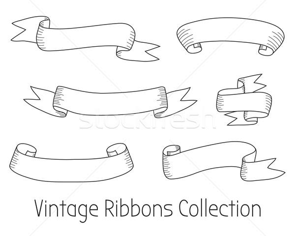 Vintage coleção vetor projeto elementos Foto stock © burtsevserge
