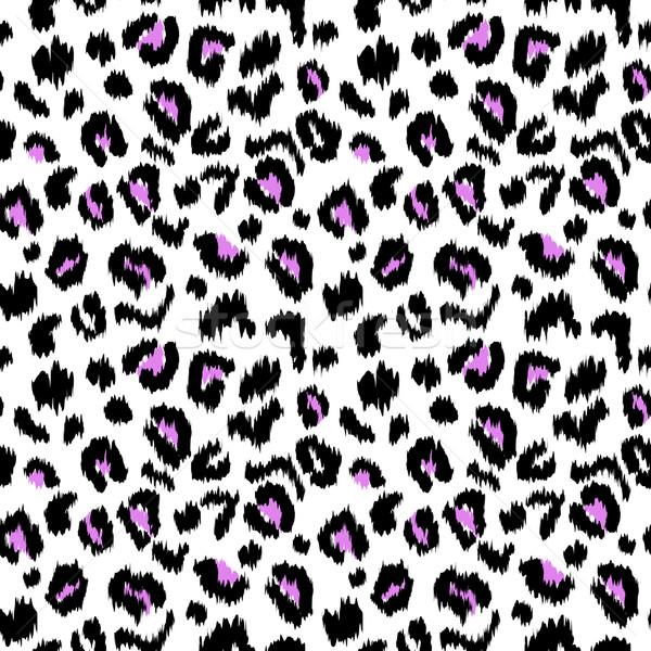 Leopard print vector seamless pattern texture Stock photo © burtsevserge