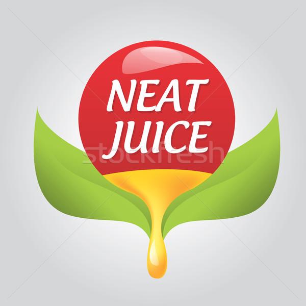 Ikon természetes ízlés terv egészség narancs Stock fotó © butenkow