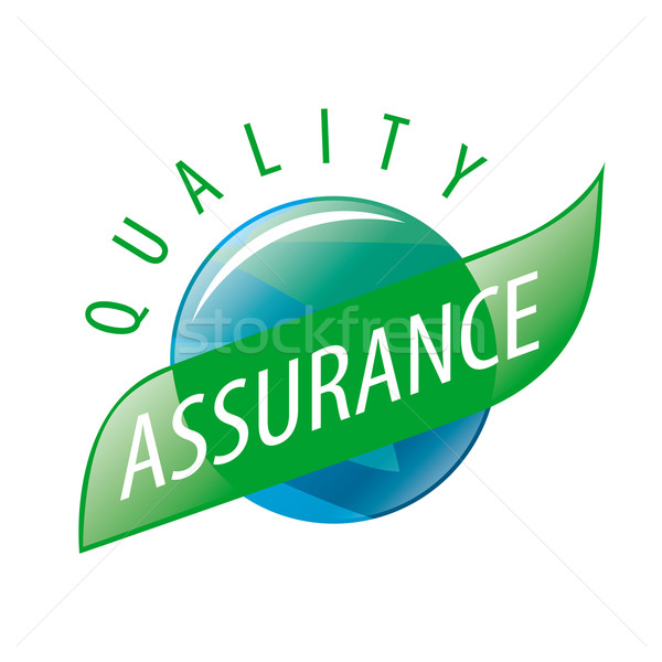 Round vector logo quality assurance Stock photo © butenkow