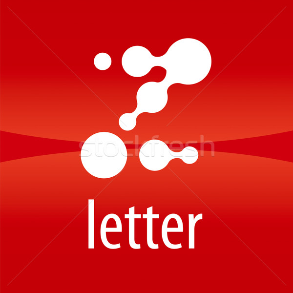 Abstract vector logo letter Z drops Stock photo © butenkow