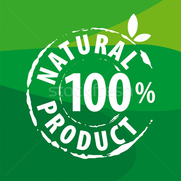 ベクトル ロゴ 自然食品 緑 デザイン 芸術 ストックフォト © butenkow