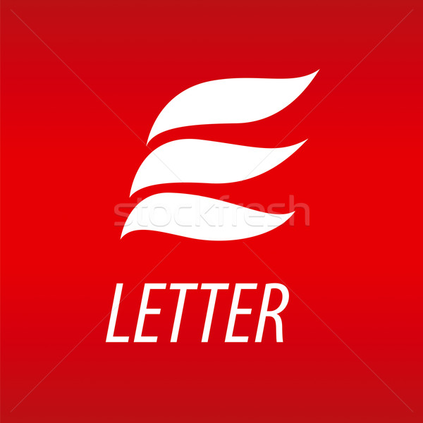 Abstract vector logo letter E in the form of petals Stock photo © butenkow