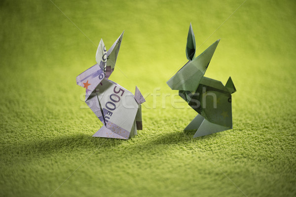 origami hare from banknotes Stock photo © butenkow