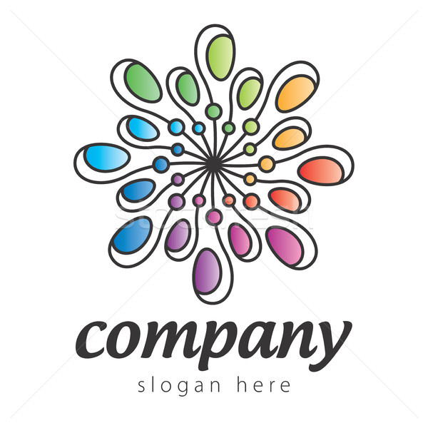 colorful abstract logo Stock photo © butenkow