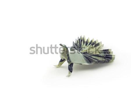 оригами птица сто деньги дизайна Сток-фото © butenkow