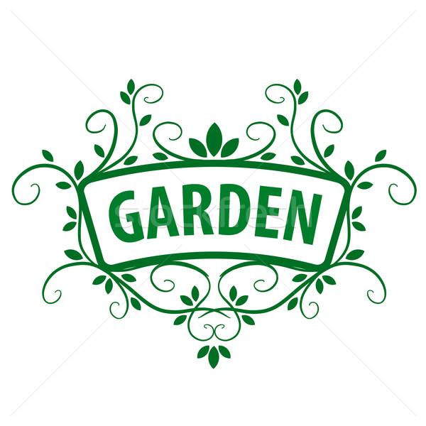 緑 ベクトル ロゴ 飾り 植物 庭園 ストックフォト © butenkow