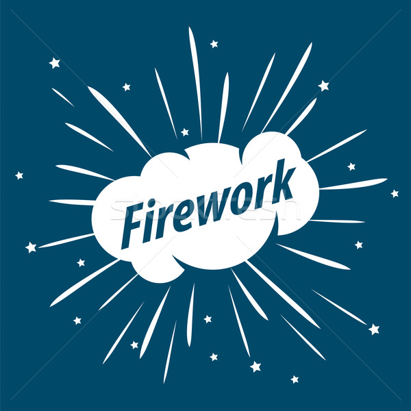 vector logo white cloud and sparks Stock photo © butenkow