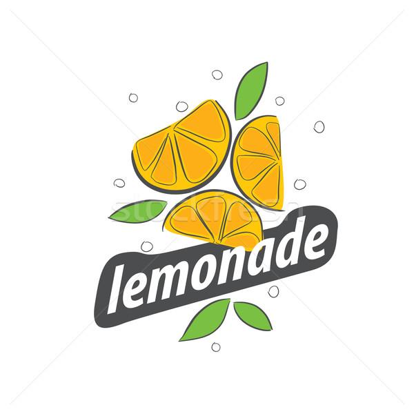 Logo limonata vettore icona bevande abstract Foto d'archivio © butenkow
