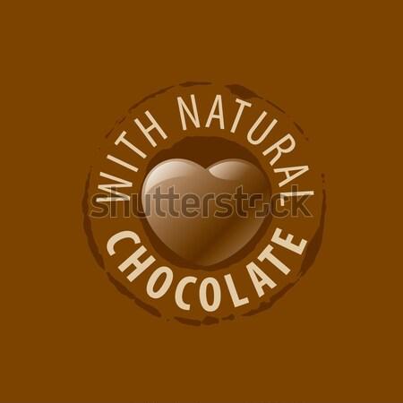 Vetor logotipo chocolate modelo doces negócio Foto stock © butenkow