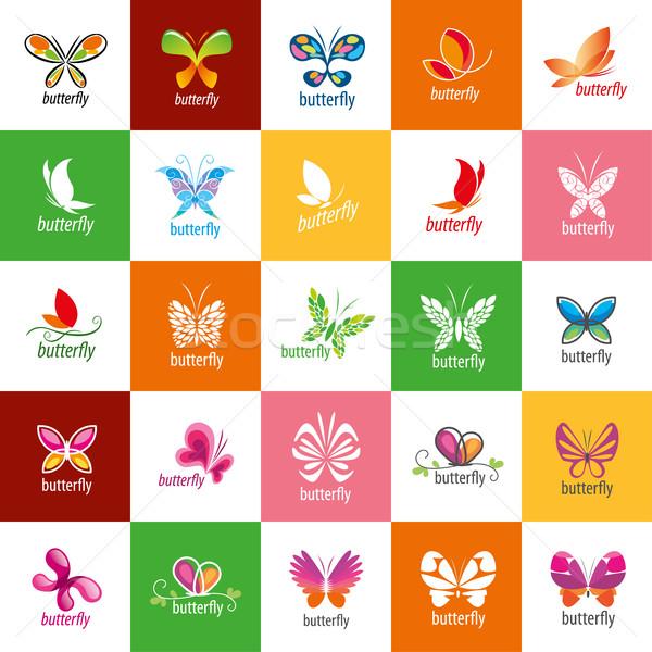 ストックフォト: ベクトル · 蝶 · ロゴ · ロゴデザイン · パターン · 蝶