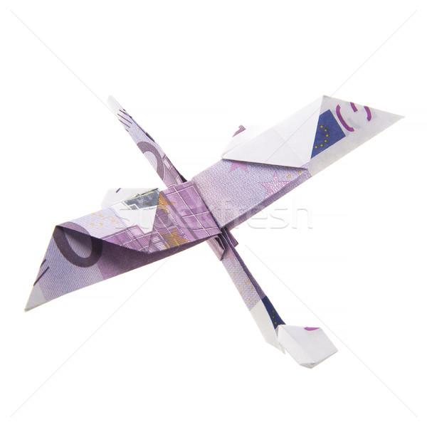 Origami aereo bianco business carta Foto d'archivio © butenkow