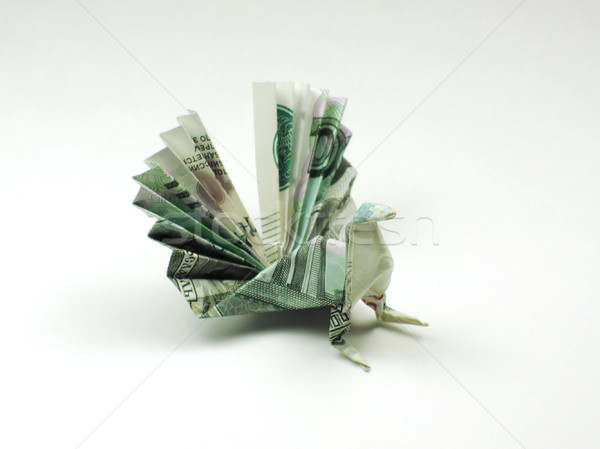 bird origami of one thousand rubles Stock photo © butenkow