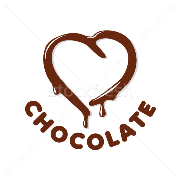 vector logo chocolate in a heart shape Stock photo © butenkow