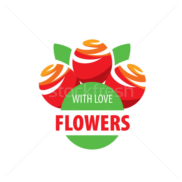 flower vector logo Stock photo © butenkow