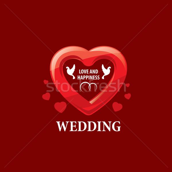 Vektör logo düğün soyut şablon örnek Stok fotoğraf © butenkow