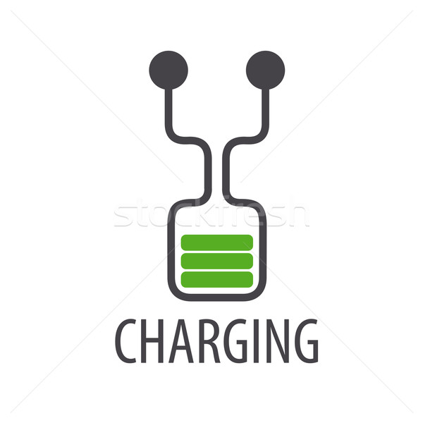 Stock photo: vector logo abstract battery charge