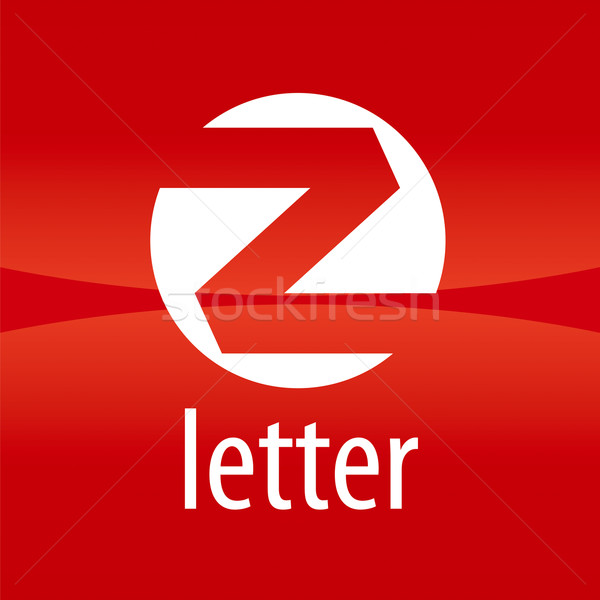 Round vector logo letter Z on a red background Stock photo © butenkow