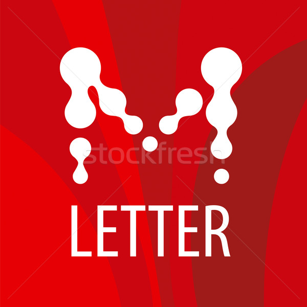 vector logo letter M in the form of drops Stock photo © butenkow
