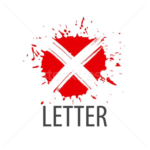 Vektor logo levél űrlap divat absztrakt Stock fotó © butenkow