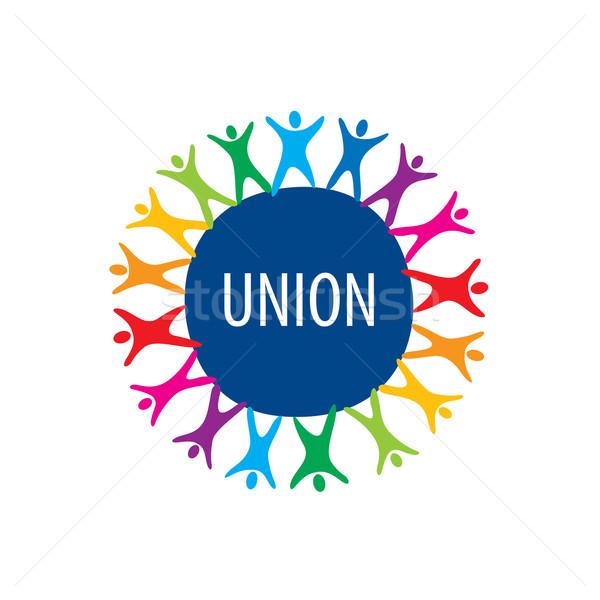 Logo unie mensen abstract vector gekleurd Stockfoto © butenkow