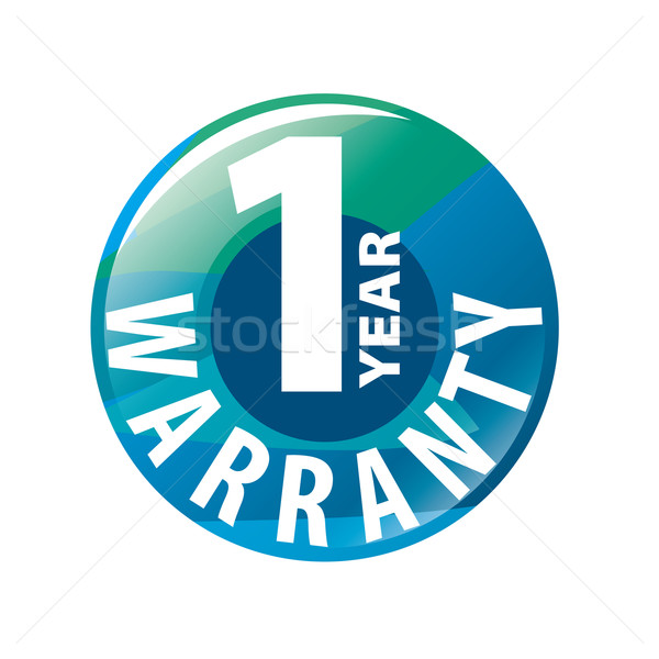 vector logo in the shape of a circle 1-year warranty Stock photo © butenkow