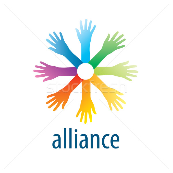 Human Alliance logo Stock photo © butenkow