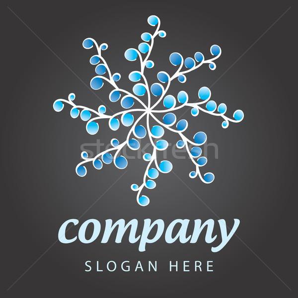 Cég logo virág üveg felirat hálózat Stock fotó © butenkow