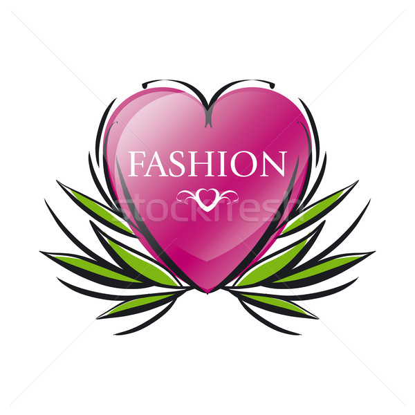 vector logo red heart for fashion Stock photo © butenkow