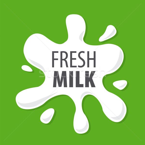 Vektör logo sıçraması doğal süt doğa Stok fotoğraf © butenkow